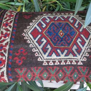 Jaff kurdish rug pillow